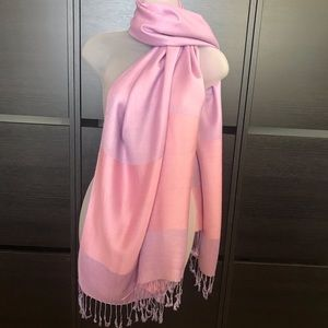 Accessories - 100% Viscose Scarf Pink and Purple